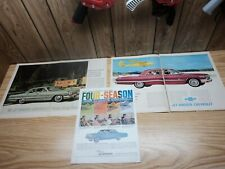 Lot (2) 1963 Chevy Impala 2-Page Print Ads Plus (1) Harrison Air Conditioning Ad