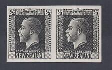Nouvelle Zélande. 1 / 2d grey-slate plaque preuve imperforate paire. fine non montés de menthe.