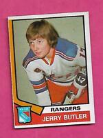 1974-75 OPC # 393 RANGERS JERRY BUTLER  ROOKIE NRMT CARD (INV# C0316)