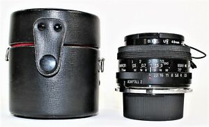 Tamron 28mm f2.5 Manual Focus Adaptall 2 Lens BBAR MC For Nikon AI With Case
