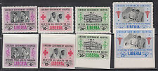 Liberia # B19 & CB4-CB6 MNH BOTH Perf & Imperf 1954 Hospital Set