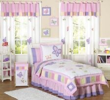 Sweet Jojo Designs Cheap Pink Purple Flower Butterfly Kids Girl Twin Bedding Set