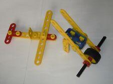 Lot pièces Meccano junior piece construction toys avion plane vehicle véhicule