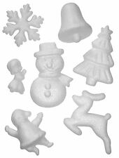 Set Of 35 Polystyrene 3D Christmas Shapes Paint Your Own Tree Decorations Craft