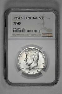 1964 Proof 50C Accent Hair Kennedy Half Dollar NGC PF 65