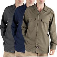 Dickies shirts LONG SLEEVE Work Shirt HANDSANDED WL475 M L XL 2XL CHARCOAL