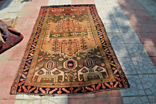 Antique Tribal Nomad Carpet,Beautiful Pictorial Pattern Tribal Rug,Antique Nomad