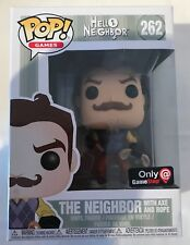 FUNO POP 262 HELLO NEIGHBOR THE NEIGHBOR WITH AXE AND ROPE EXCLU GAME STOP