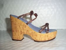 Willitts Designs 1999 Cork Wedge #25093 Just the Right Shoe Mib Coa