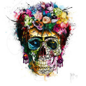 FRIDA KHALO SKULL BY PATRICE MURCIANO ROCK SLATE ART PRINT OFFERED IN 3 SIZES