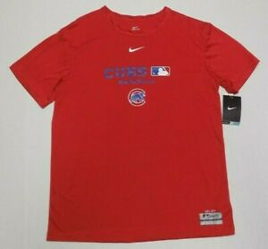 CHICAGO CUBS NIKE BRAND DRI-FIT T-SHIRT YOUTH SIZE LARGE (16-18) - RED - NWT
