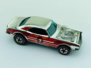 Hot Wheels Redline HEAVY CHEVY Red Orange Super Chrome EX/NM Very Clean !!