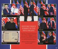 Palau 2018 MNH Peace Summit US President Donald Trump Kim Jong-un 6v M/S Stamps