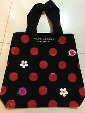 MARC JACOBS FRAGRANCE Black Canvas Tote Bag Polka Dot DAISY NEW