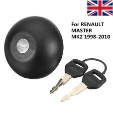 For RENAULT MASTER MKII 1998-2010 Locking Fuel Petrol Diesel Cap & 2 Keys Black