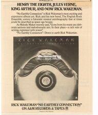 1976 Rick Wakeman No Earthly Connection Vtg Album Promo Print Ad