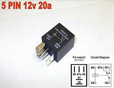 5 PIN 12v 20amp AUTOMOTIVE MICRO RELAY CHANGEOVER CAR MOTORBIKE VAN ( Y9 )