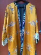 Vintage 19th century Qing dynasty Chinese Silk Robe