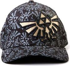 Accessoires casquettes de base-ball noirs en polyester pour homme