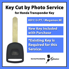-Key Cut by Photo- Service for Replacement Honda Transponder Car Key HD113-PT