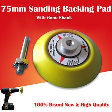 """Sanding Backing Pad Hook & Loop 3""""/ 75mm Polishing Pad with 6mm Thread / Spindle"""