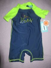 nwt Floatimini navy shark one piece swim suit baby boy 12 m free ship Usa