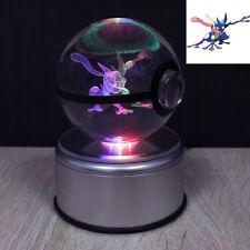 3D Pokemon Greninja Boule de Cristal Lumière Veilleuse Lampes de Table Cadeau