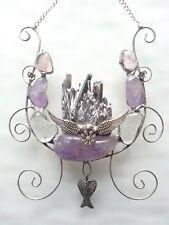 Angel Wings Amethyst Quartz gemstones Natural Crystal wall decoration gift xmas