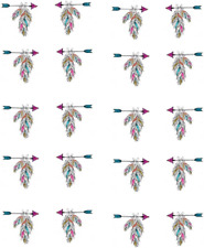 Pastel Indian Arrow w/ Feathers Waterslide Nail Decals/Nail art