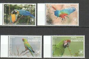 Cook 2019  birds parrots fauna set MNH michel 2265-68 set 95 euro
