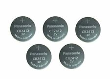 5 Batteries Panasonic Lithium Button Cell CR2412 CR 2412 Battery for Seiko  NEW