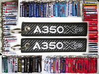 Keyring AIRBUS A350 CARBON BACKGROUND XWB LOGO keychain for Pilot Crew