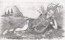 Hand painting Balinese Shridevi Dewi Sri Padi 327