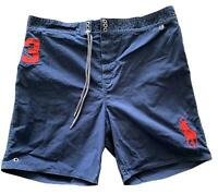 POLO RALPH LAUREN MEN'S NAVY SWIM SHORTS, XXL, $85