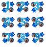 Superhero Avengers Balloon Kit Blue 30'' Number Happy Birthday 5 Party Balloons