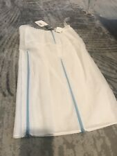 Costume National White Skirt With Blue Zippers On Inside