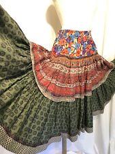 Koos Van Den Akker Skirt Designer Vintage Ruffles Tiered Boho Peasant Patchwork