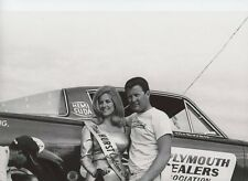 TOM MCEWEN & LINDA VAUGHN   8X12  DRAG RACING PHOTO