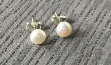# GENUINE WHITE FRESHWATER PEARL EARRINGS