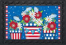 """American Planter Patriotic Doormat Primitive Indoor Outdoor 18"""" x 30"""""""