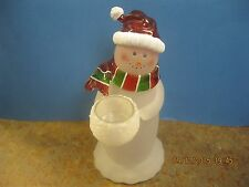 "Vintage Estate Christmas decorations Santa Candle holder 10"" H X 3 1/2"" W"