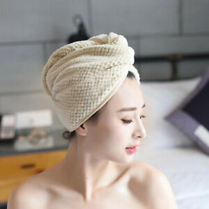 Quick Dry Magic Hair Towel Turban Microfibre Wrap Cap Hat Bath Shower Turbie