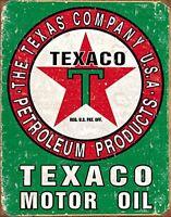 Texaco Motor Oil Vintage Retro Tin Metal Sign 13 x 16in