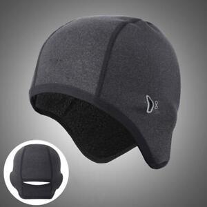 Cycling Beanie Running Helmet Liner Cap Thermal Fleece Winter Bike Hat Windproof
