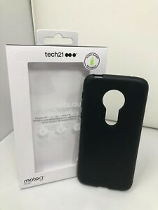 NEW Authentic Tech21 Studio Colour Case for Moto g7 Play - Back to Black