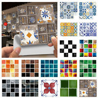 10/20pcs Mosaic Tile Stickers Bathroom Sticker Self-adhesive Home Wall Decor Set