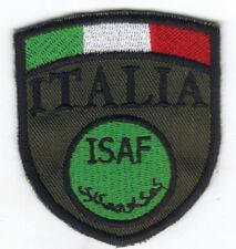 [Patch] SCUDETTO ISAF ITALIA cm 6x6,5 su verde toppa ricamata ricamo -063o