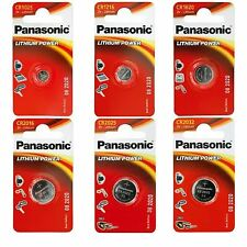 Panasonic Genuine Coin Cell Battery / Batteries for Watch, Car Key Fob, Camera