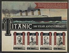 Antigua & Barbuda 2012 MNH RMS Titanic 100 Year Anniv Sinking 4v M/S Stamps