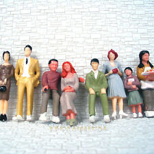 80 pcs scale 1:32 Passenger painted People 8 different Poses Figures